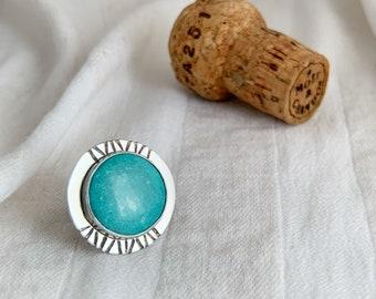 Large Turquoise Shield Ring