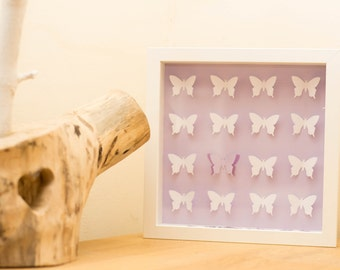 Purple butterfly 3D frame! Perfect for a little girls room! Lovely Gift/Present!