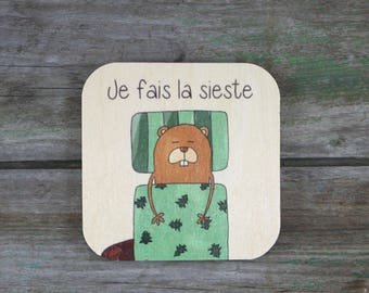 "Symbol ""I do NAP"", wooden - Daily Routine - 3 to 5 years"