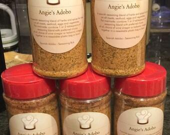 Angie's Adobo Gourmet Seasoning Rub made with SEA SALT****(10 oz. sent with keepsake Angie's Adobo Jar)****USPS flat fee shipping rate