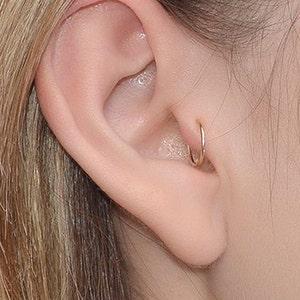 Acier Chirurgical Argent Cœur Helix Cartilage Anneau Tragus Daith Bague Hoop Earring