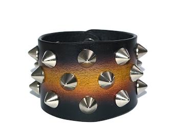Wide Leather Bracelet Black / Leather Band Bracelet, Leather Cuff Bracelet / Mens Bracelet, Leather Wristband, Leather Wrap Bracelet