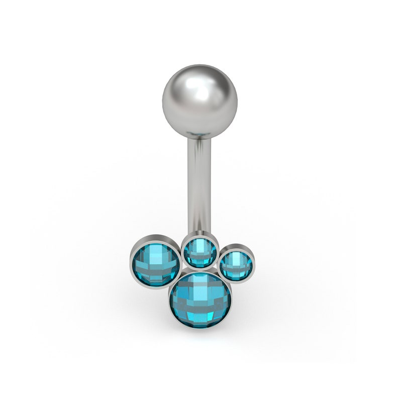 Belly Ring Titanium Belly Button Piercing CZ Navel Jewelry 16g 14g Belly Piercing Body Piercing Curved Barbell Earring