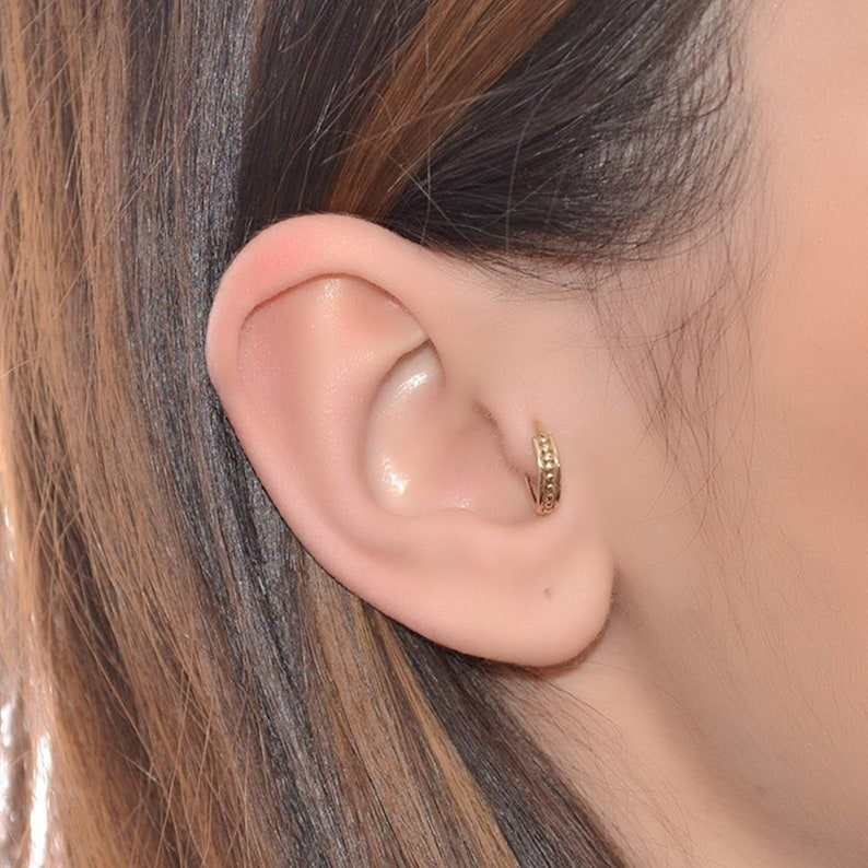 Daith Piercing Nose Hoop Septum Ring  Tragus Earring Helix Piercing Gold Nose Ring 18g  Cartilage Earring