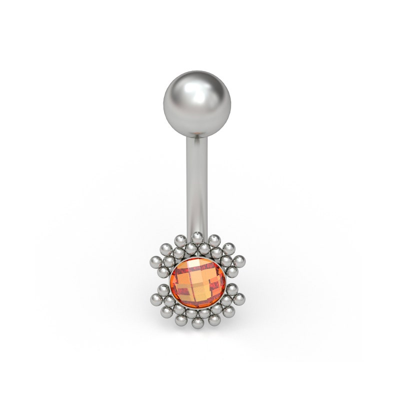 Belly Button Ring Titanium Implant Grade CZ Navel Ring Belly Barbell Navel Stud Body Piercing Jewelry Curved Barbell Jewelry
