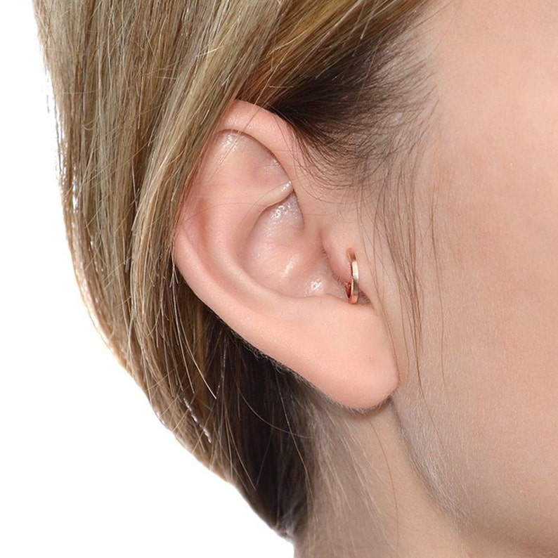 39e575dd3 Gold Square Tragus Earring 20g / Nose Ring Tragus Ring   Etsy