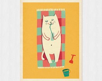 Summer time part II - original illustration