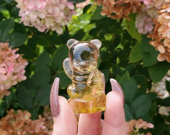Natural Citrine Winnie The Pooh Carving