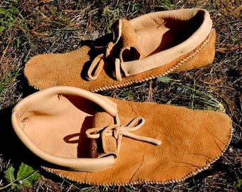 Elk Leather Moccasins - Custom to your foot
