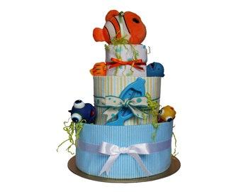 FISHY CAROUSEL Nappy cake