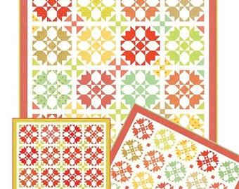 Rosehips Quilt Kit, Fabric is Ellie & Ollie by Fig Tree