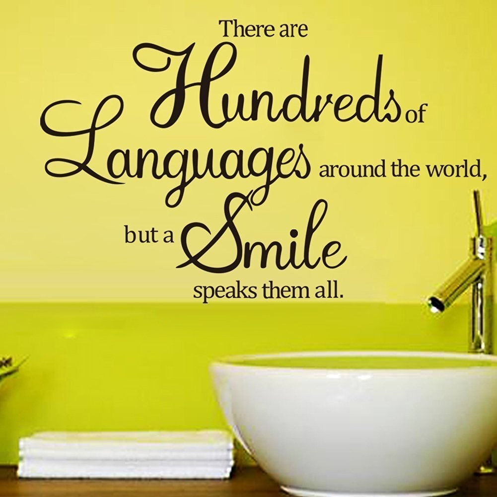 There Are Hundreds of Languages Around The World But A Smile | Etsy