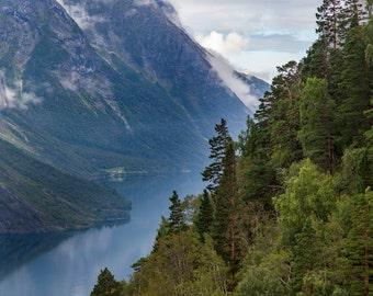 View over Eikesdalen, Norway
