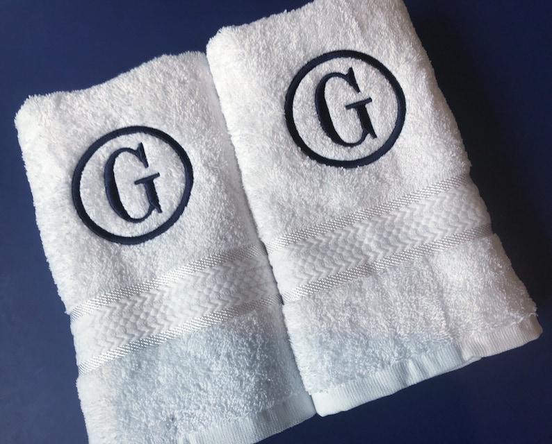 Monogrammed Hand Towel Set Bath Towels Personalized Towels Monogrammed Towel Personalized Towel Set Towels