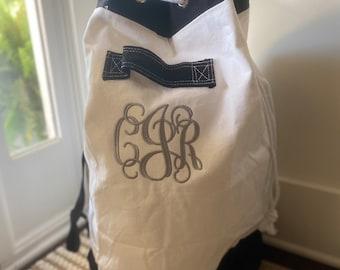 Monogrammed Laundry Bag / Canvas Laundry Bag / Laundry Sack / Personalized Laundry Bag