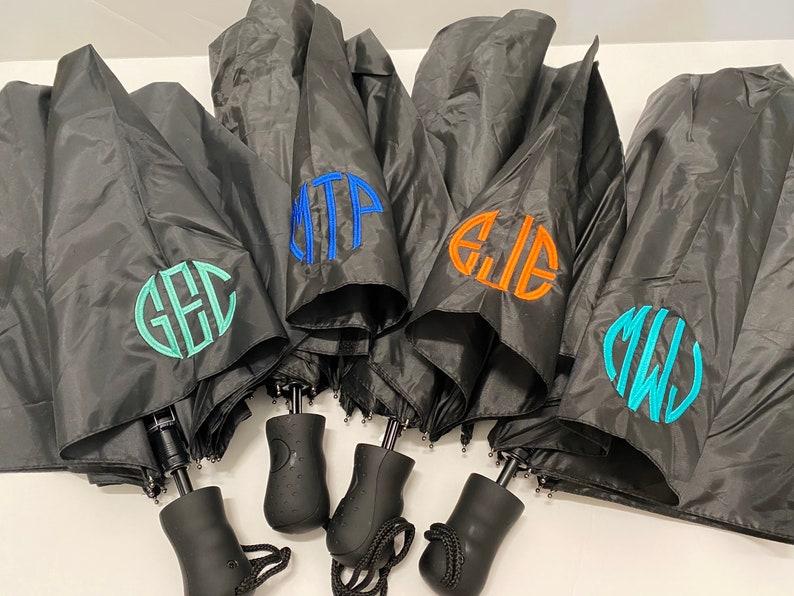 Monogrammed Umbrellas / Rain Umbrella / Personalized Umbrellas image 0