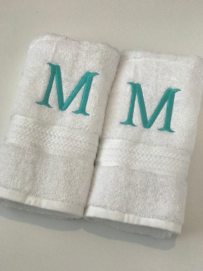 Monogrammed Hand Towels Bath Towels Personalized Towels Monogrammed Towel Personalized Towel Set Towels Monogrammed Towels