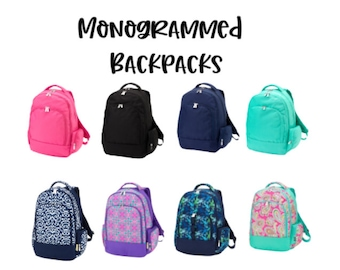 Monogrammed Backpack / Personalized backpack / Backpack