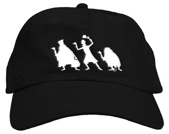 Haunted Hitchhiking Ghosts Halloween Dad Hat Baseball Cap Low Profile 5a196302bf2f