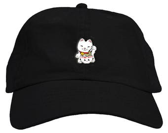 5cf46aaa85ee2 Ramen Cat Dad Hat Baseball Cap Low Profile
