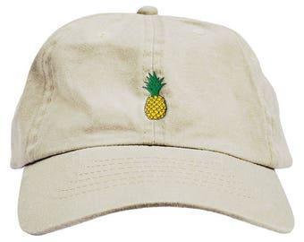 351643f335120 Pineapple Dad Hat Baseball Cap Low Profile