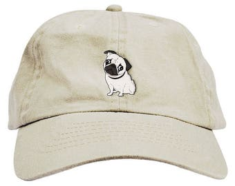 36032b50265 Pug Dad Hat Baseball Cap Low Profile