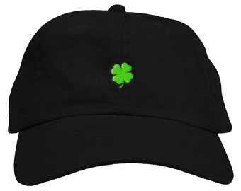 56488d91abc Lucky Four Leaf Clover St. Patrick s Day Dad Hat Baseball Cap Low Profile