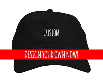 9bb19019 Personalized Custom Embroidered Dad Hat | Design your own unstructured  baseball hat with custom text