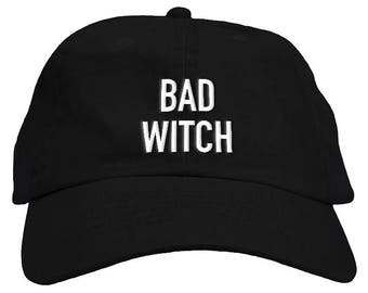 1e010c5a0e1 Bad Witch Halloween Dad Hat Baseball Cap Low Profile