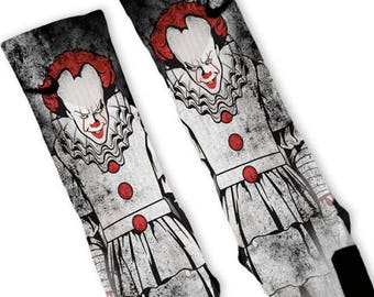 86d074b95a40 Custom Big Clown Nike Elites Socks with Gift Option