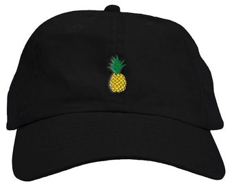 351643f335120 Pineapple Dad Hat Baseball Cap Low Profile