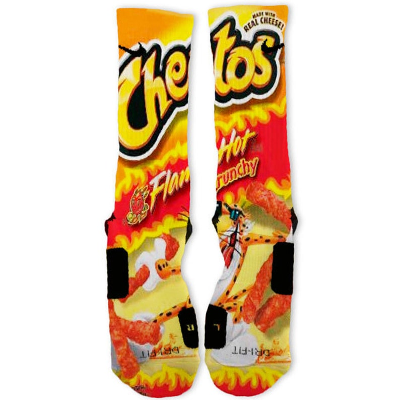 Custom Hot Cheetos Nike Elites Socks Etsy