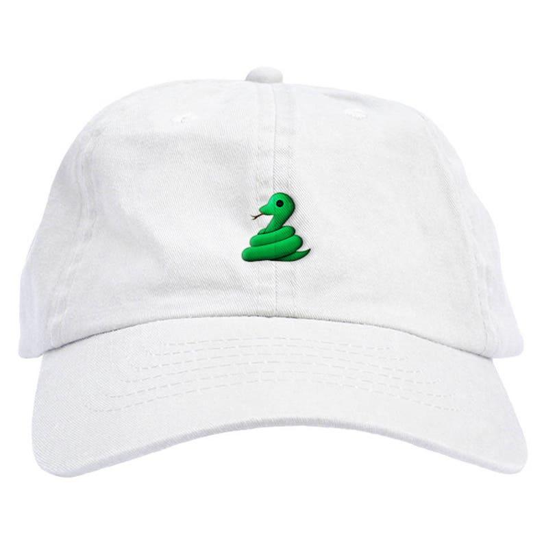 2f01726caad17 Snake Emoji Dad Hat Baseball Cap Low Profile