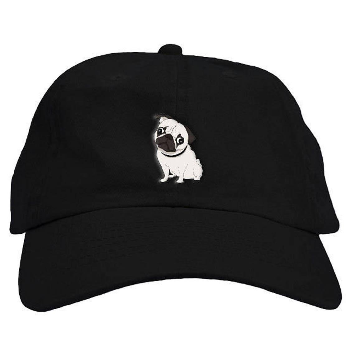 4a93109c9f4 Pug Dad Hat Baseball Cap Low Profile