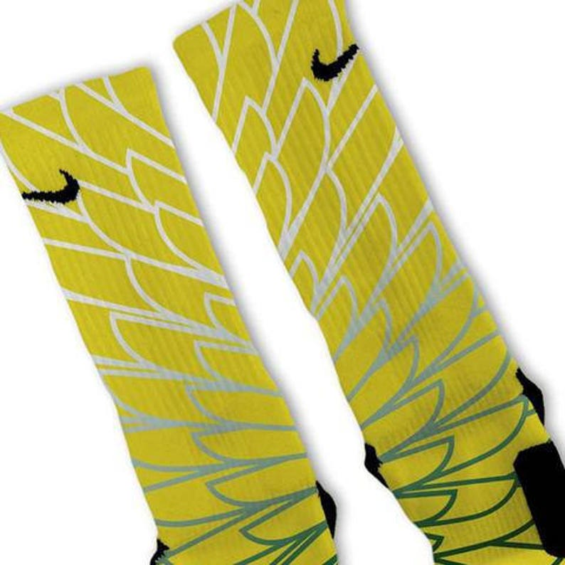 88b4c2f9f Custom Wings 5 Nike Elites Socks | Etsy