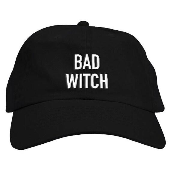 Bad Witch Halloween Dad Hat Baseball Cap Low Profile  12de6ba7021