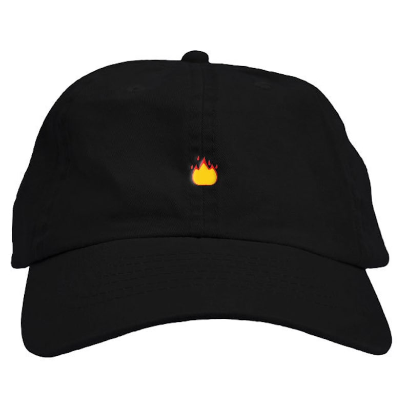 2eb6301b4ae Fire Emoji Dad Hat Baseball Cap Low Profile