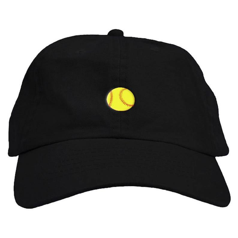 Softball Emoji Dad Hat Baseball Cap Low Profile  077ae382404