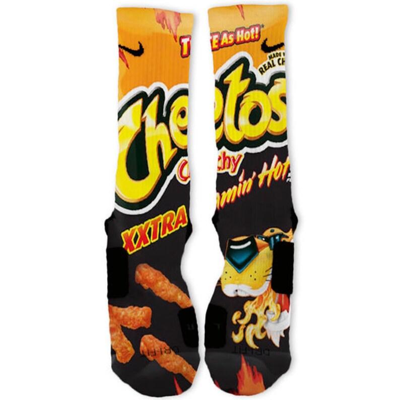 Custom Xxxxtra Flamin Hot Cheetos Nike Elites Socks Etsy