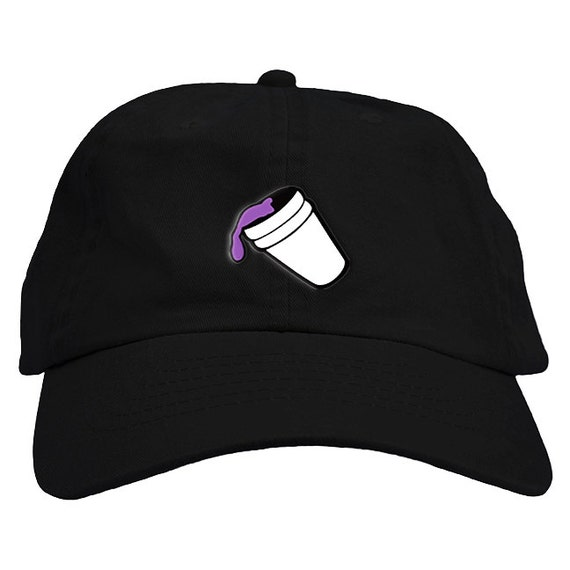 Purple Drank Lean Drink Dad Hat Baseball Cap Low Profile wtih  0d95aa7b68d4