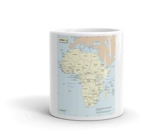 Afrika Karte Kaffee Und Tee Tasse Meistverkaufte Artikel Schreibtisch  Zubehör Teetassen