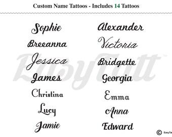5f94d4cac Custom Name Temporary Tattoos - Custom Temporary Tattoos - Name Temporary  Tattoos - Word Temporary Tattoos - Little Temporary Tattoos