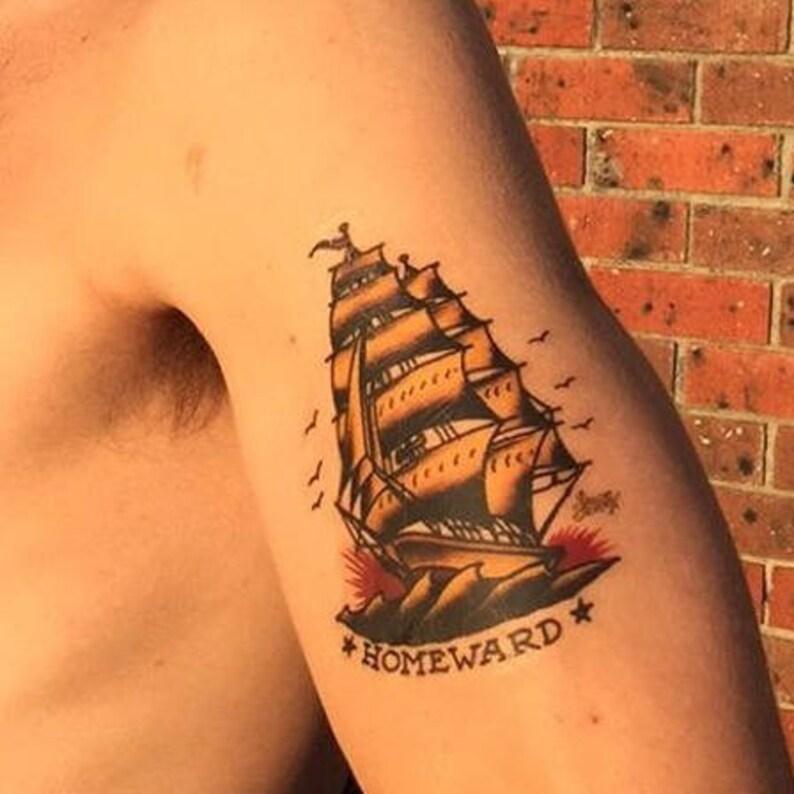 Sailor Jerry Temporary Tattoo Vintage Temporary Tattoos Etsy