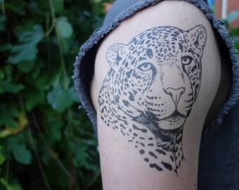 Jaguar Temporary Tattoo - Temporary Tattoo - Fake Tattoo - Animal Tattoo - Tattoo - Halloween Ideas - Gift Ideas