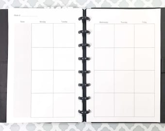 graph paper grid paper inserts for discbound planners arc etsy