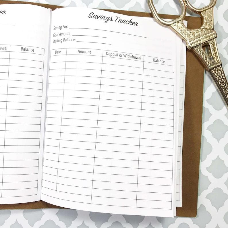 Traveler/'s Notebook Savings Tracker Savings Inserts