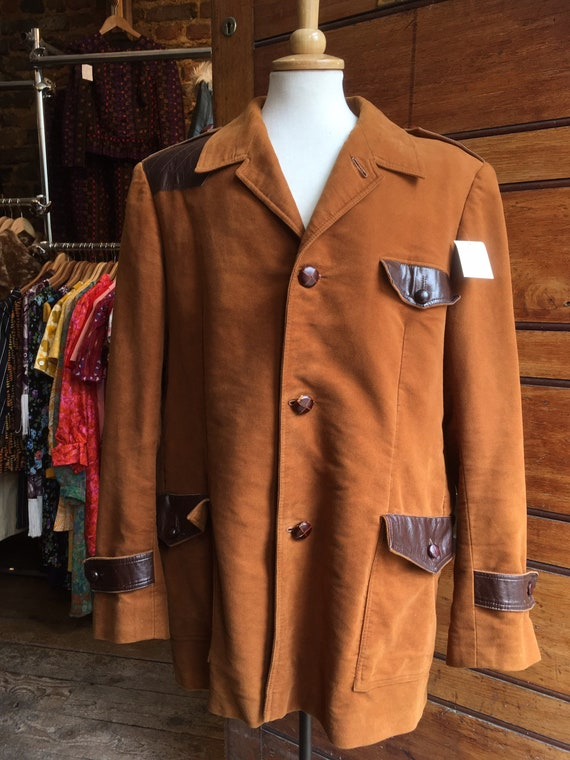 1950s Tan Moleskin Hunting Jacket
