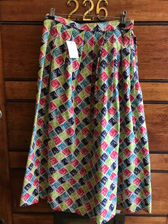 NOS 1950s cotton circle skirt