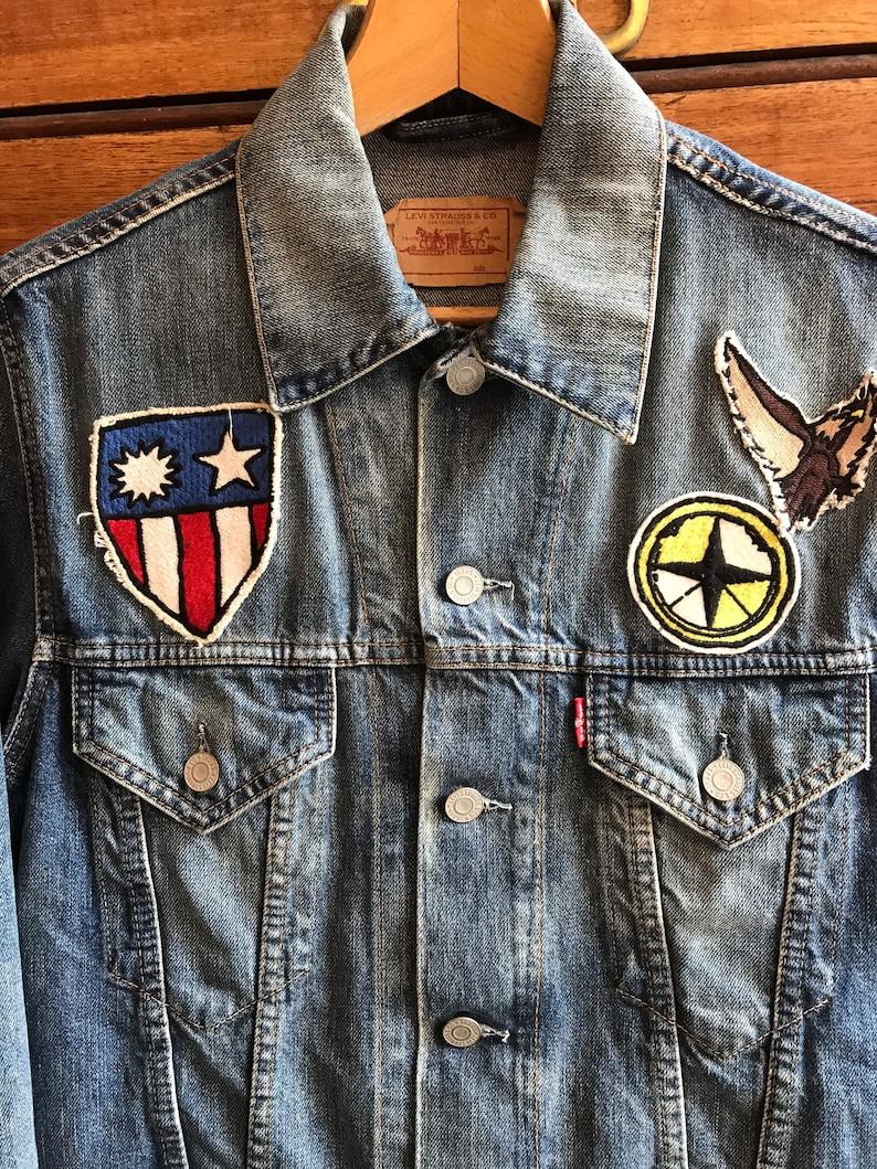 Levi\u2019s Denim Jacket w patches