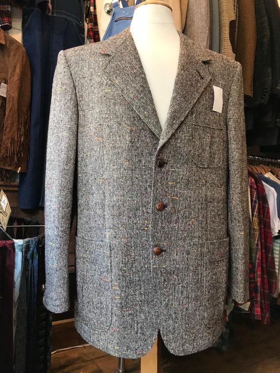 1970s brown fleck tweed jacket